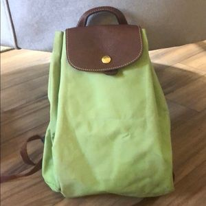 Longchamp le pliage backpack spring green